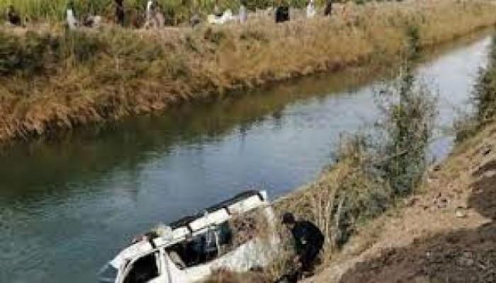 مصرع 4 أشخاص وإصابة 3 آخرين إثر انقلاب سيارة فى ترعة الصحارة بسوهاج