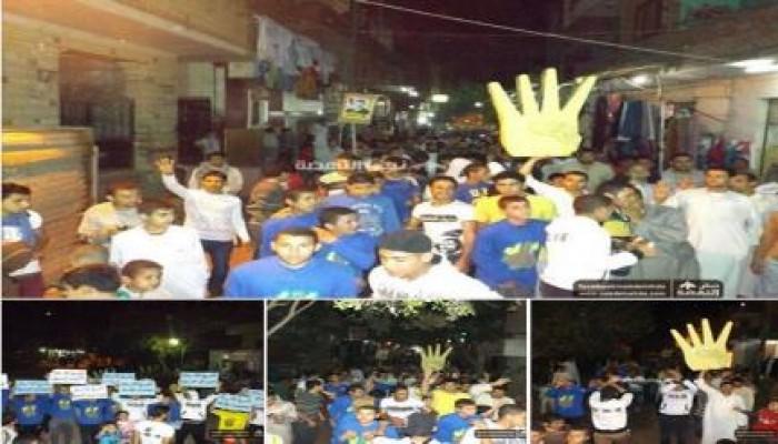 الجيزة: مسيرة ليلية لثوار منشية رضوان ضد العسكر