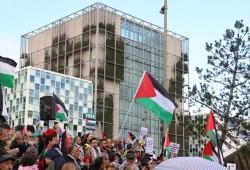 مظاهرة طلابية داعمة لفلسطين في هولندا