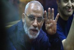قضاة السيسي يؤيدون حكم بالمؤبد ضد د. بديع و9 قيادات بالإخوان