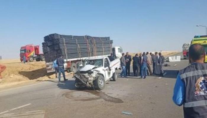 إصابة 13 شخصا فى حادث انقلاب سيارة على طريق أكراش ديرب نجم بالشرقية